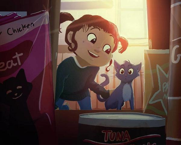 อบอุ่นหัวใจไปกับภาพการ์ตูนสะท้อนวัยเด็ก