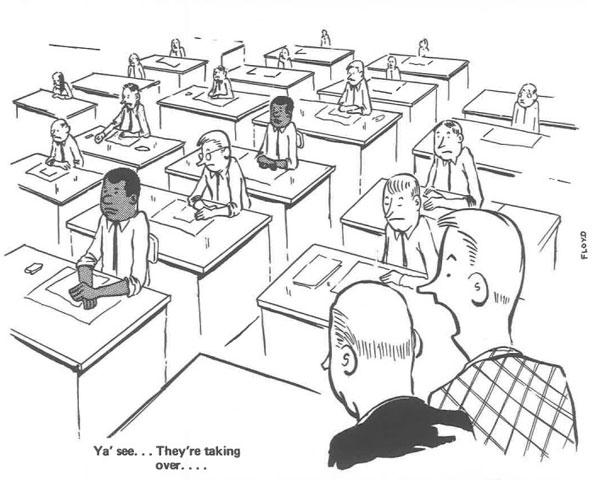 เมื่อคนอยากระบาย!! ภาพการ์ตูนสุดหดหู่ของชายผิวสีใน Office ที่เต็มไปด้วยคนขาว