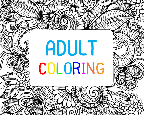 pic Adult Coloring ระบายสีฉบับผู้ใหญ่ ฝึกใจให้สงบ