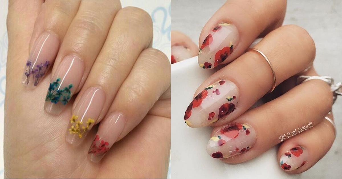 Nails-Polish-Floral